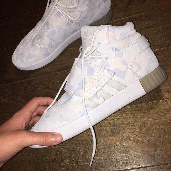 d0cd62a3d5a5d adidas Shoes | Tubular Invader White Duck Camo | Poshmark